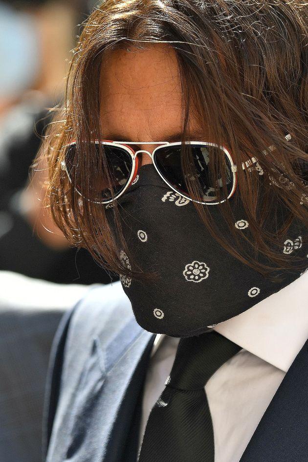 Johnny Depp à son arrivée au