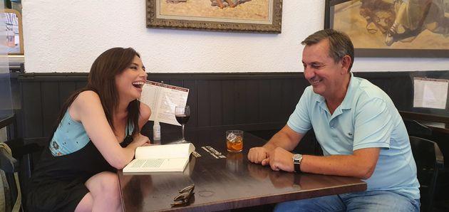 Marta Flich con Daniel Bilbao durante la