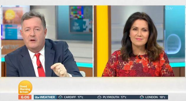 Piers Morgan and Susanna Reid on Wednesday's