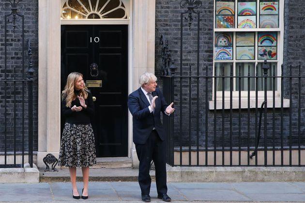 Boris Johnson applauding NHS workers in