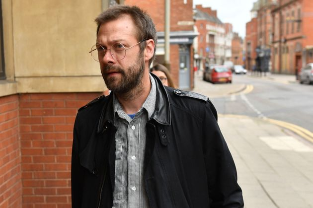 Tom Meighan outside court on