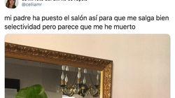 Esta joven arrasa en Twitter al compartir cómo decoró su padre la casa para desearle suerte en