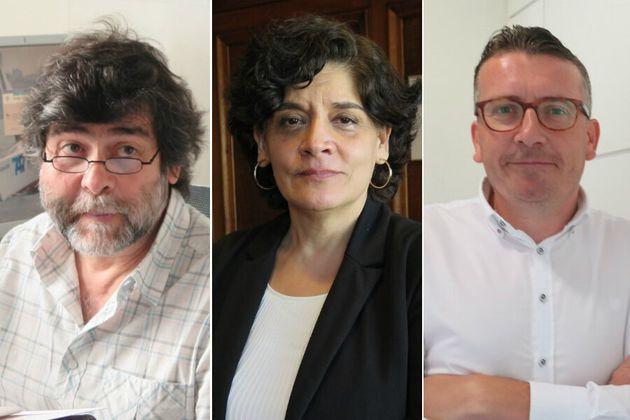 De izquierda a derecha, Ismael Huerta, Concepción Saavedra y Sergio Valles, tres de los artífices de