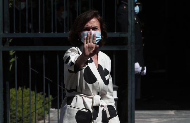 Carmen Calvo, fotografiada el 6 de julio de 2020 en Madrid (Eduardo Parra/Europa Press via Getty