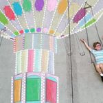 Teen Creates Whimsical Sidewalk Chalk Worlds To Delight Kid