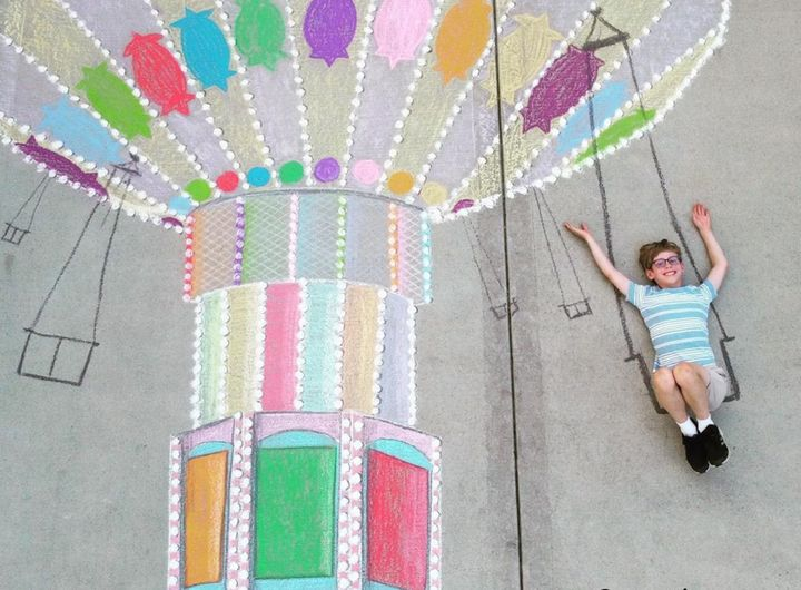 A 100-day sidewalk art challenge created collaborative fun and escape for siblings Macaire and Camden Everett.