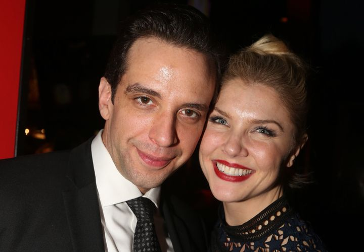 Nick Cordero and Amanda Kloots on Feb. 19, 2017, in New York City.