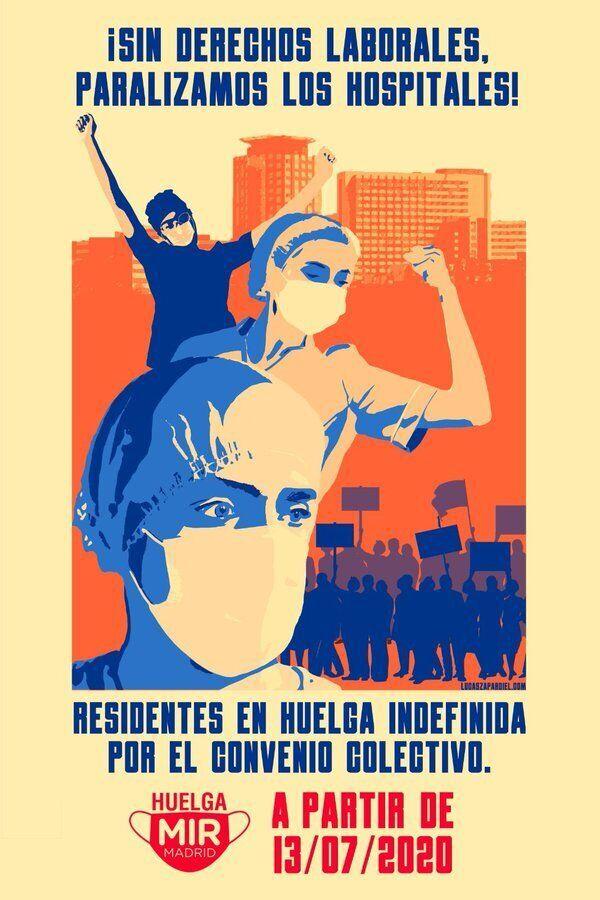 Cartel de la huelga de los