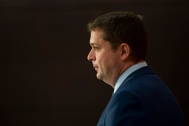 Conservative Leader Andrew Scheer speaks during a news conference on July 8, 2020 in
