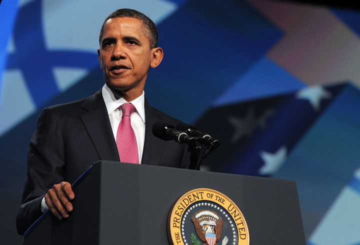Celebrity Beauty: Then-President Barack Obama addresses the AIPAC policy convention in 2012. Obama-generation insurance policies just like the Iran nuclear deal shif