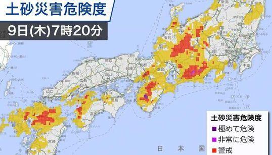 九州から東海は大雨に警戒 梅雨前線北上、土砂災害の危険も