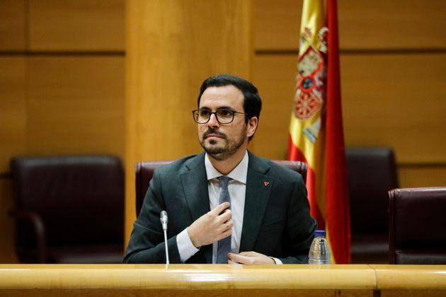 El ministro de Consumo, Alberto Garzón, el 26 de junio de 2020 en el Senado (Jesus Hellin/Europa...