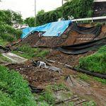 世界遺産・三池炭鉱の鉄道敷跡が崩落 豪雨で大量の土砂