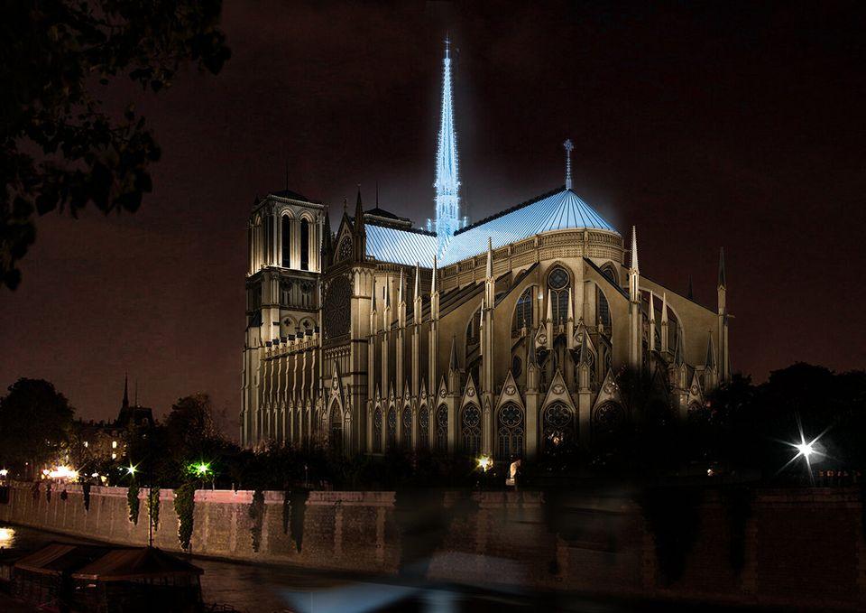 Le toit de Notre-Dame imaginé par Massimiliano Fuksas.