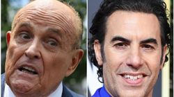 Bikini-Clad Sacha Baron Cohen Pranks Rudy Giuliani, Who Calls