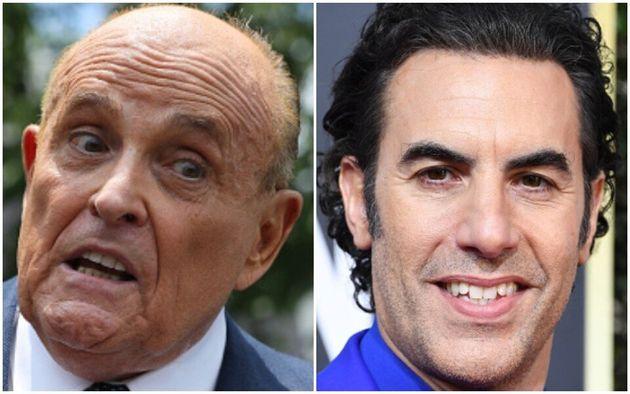 Bikini-Clad Sacha Baron Cohen Pranks Rudy Giuliani, Who Calls Police