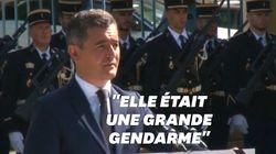Les honneurs militaires rendus à Mélanie Lemée en présence de Gérald