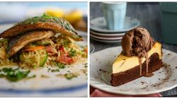 Κυριακάτικο Τραπέζι: Τσιπούρα με καστανό ρύζι και μεσογειακή σαλάτα με ντρέσινγκ μελιού και τσιζκέικ φούρνου με