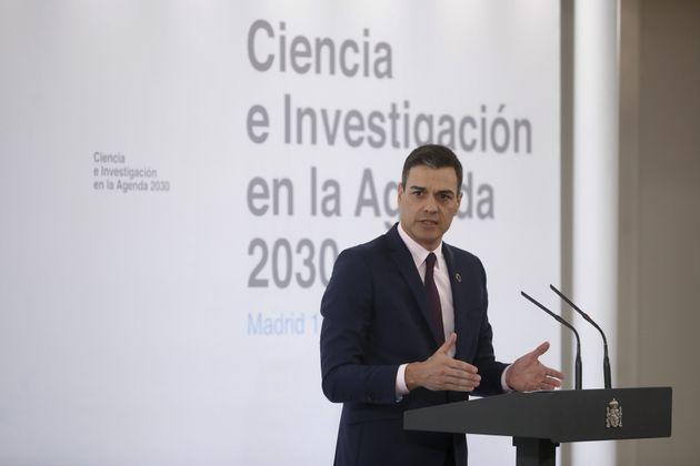 El presidente del Gobierno, Pedro Sánchez, este jueves en la presentación del plan de choque de