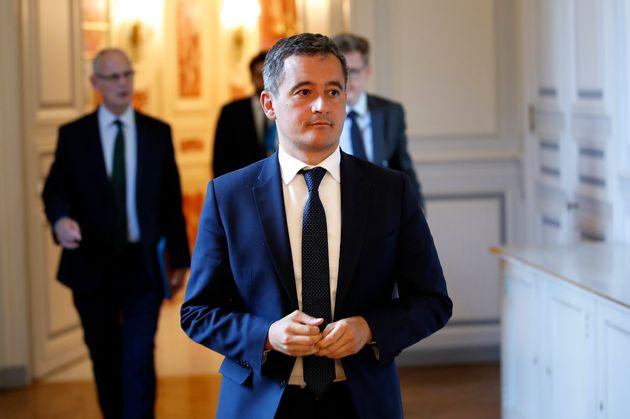 Gérald Darmanin, ici Place Beauvau à Paris, le 8 juillet