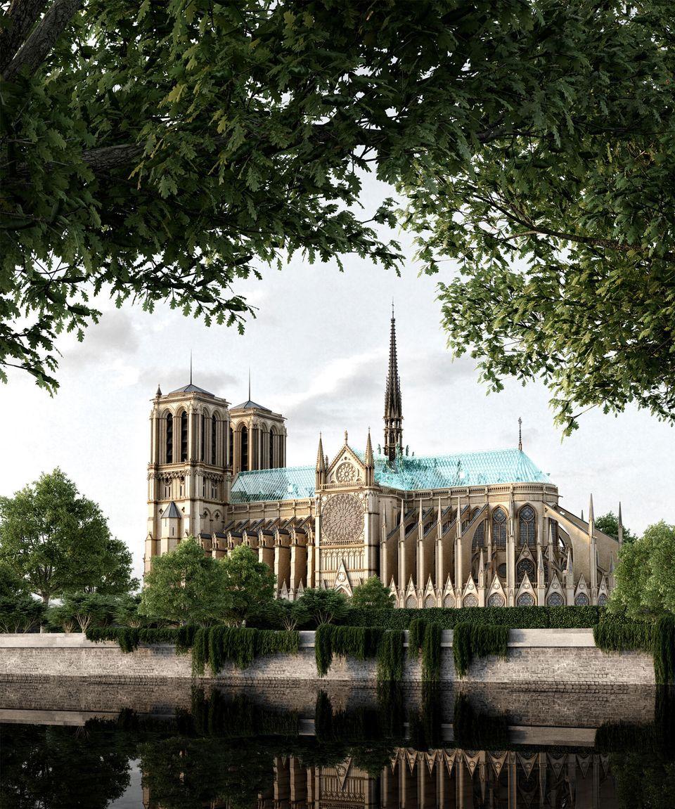 L'architecte russe Alexander Nerovnya a imaginé une flèche transperçant un toit entièrement fait de