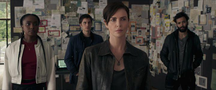 "KiKi Layne, Luca Marinelli, Charlize Theron and Marwan Kenzari in ""The Old Guard"" on Netflix."