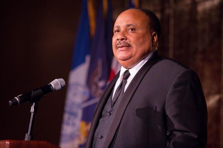 """We have to still continue to work through to rid our society of racism,"" said Martin Luther King III."