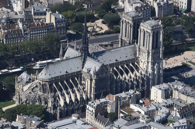 Notre-Dame de Paris, ici photographiée le 14 juillet