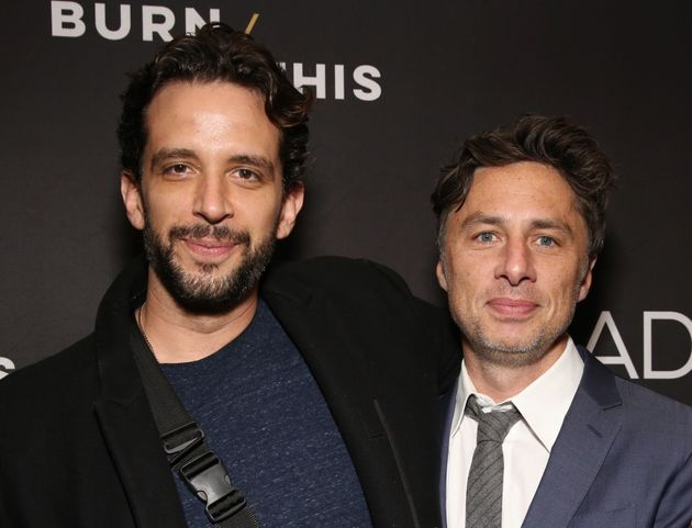 Nick Cordero and Zach Braff at the Broadway production of