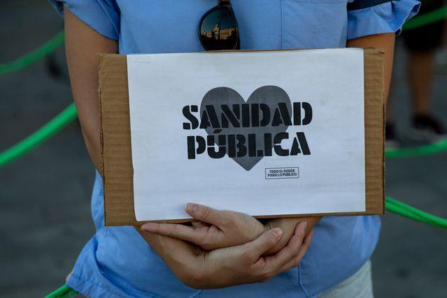 Una movilización de personal sanitario a favor de la sanidad pública, en