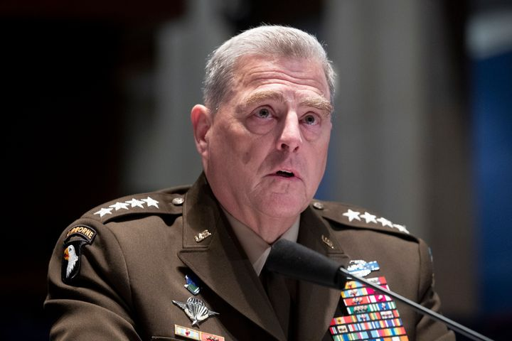 Chairman of the Joint Chiefs of Staff Gen. Mark Milley testifies during a House Armed Services Committee hearing on Thursday.