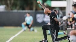 Poing levé et genou à terre, Thierry Henry affiche son soutien à Black Lives