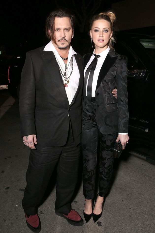 Depp and Heard pictured in November