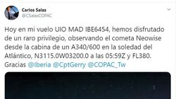 La espectacular foto que tomó un piloto de Iberia en pleno vuelo deja maravilladas a miles de