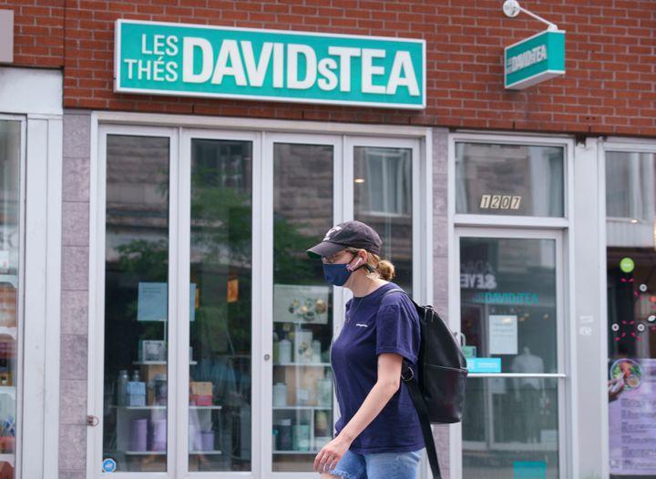 DavidTea a récemment annoncé une importante restructuration. (Paul Chiasson/La Presse canadienne)