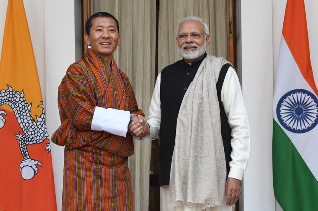 Prime Minister Narendra Modi with Bhutan's Prime Minister Lotay Tshering in New Delhi on December 28,