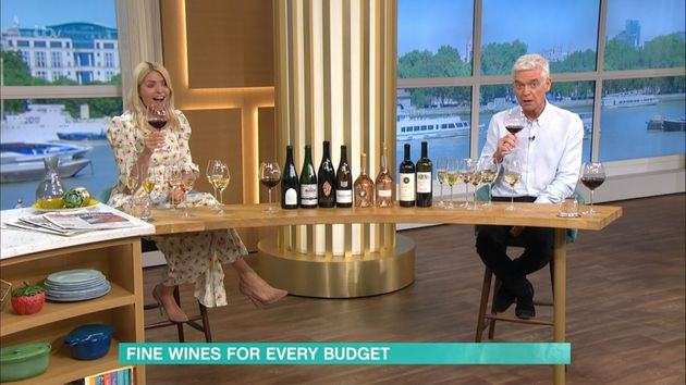 Holly and Phil raised (several) glasses during their final This Morning until