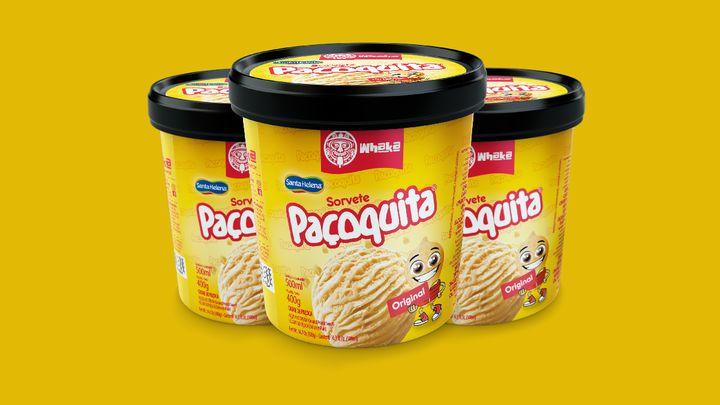 Nova versão da Paçoquita em sorvete de pote também será vendida nos EUA.