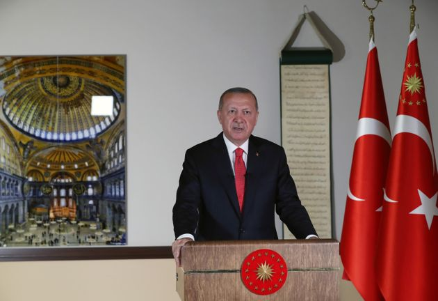 Ερντογάν: Η Τουρκία άσκησε τα κυριαρχικά της δικαιώματα στην Αγία