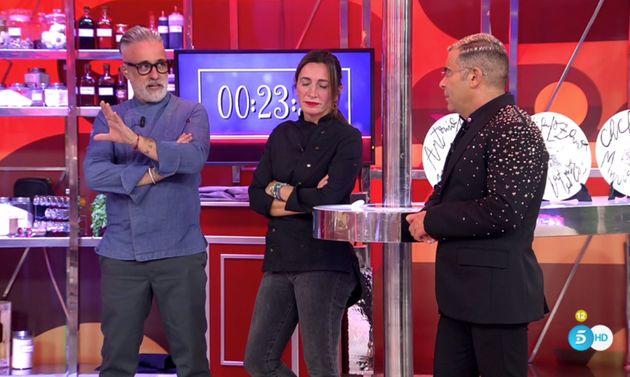 Sergi Arola, Begoña Rodrigo y Jorge Javier en 'La Última