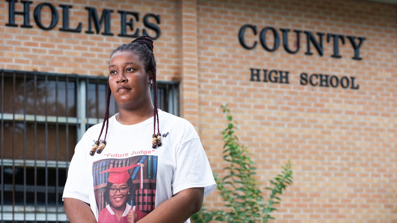 Justice Grisby, 18, a graduate of Holmes County Central High School in Lexington, Mississippi, is a witness to the corporal punishment system in the Mississippi school districts. Although she was never paddled during her public school experiences, she was choked by a teacher who took exception to her reaction while he was talking to her.