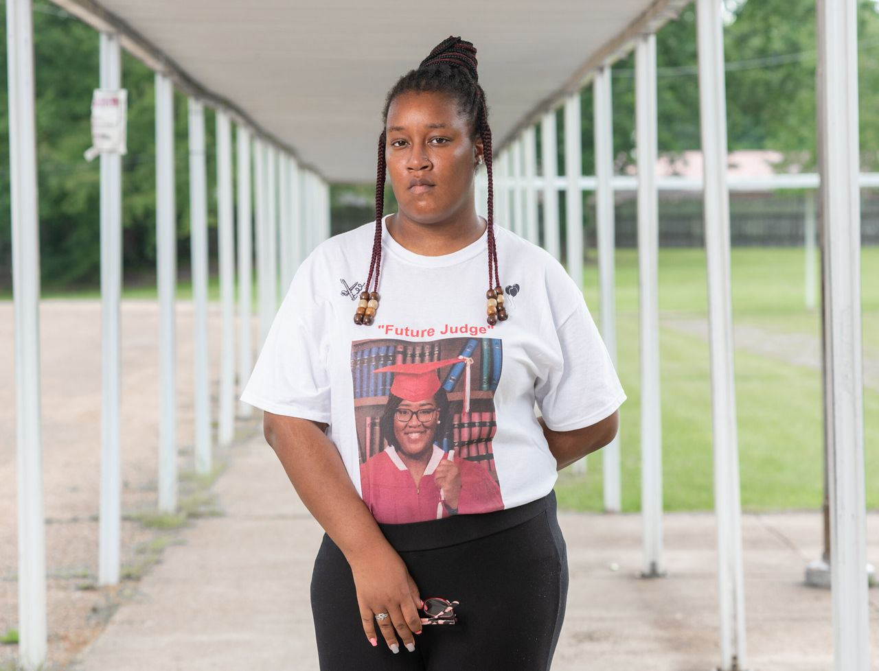 Justice Grisby, 18, a graduate of Holmes County Central High School in Lexington, Mississippi.