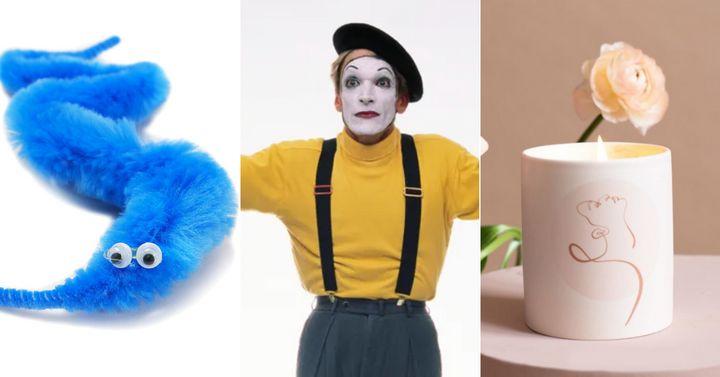 You might think a worm on a string, a mime, and a scented candle have nothing at all in common. But reader: they do!