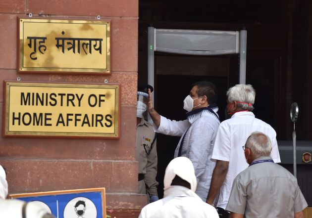 A file photo of the entrance to the Ministry of Home Affairs in North Block, New
