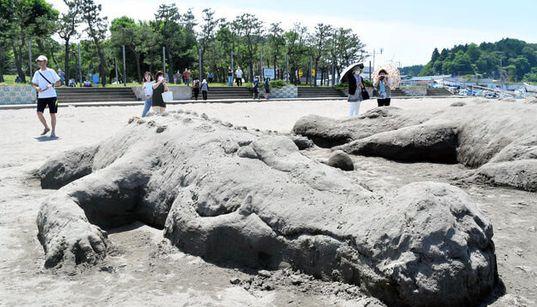 青森の海水浴場に突如現れた、体長5メートルの巨大ワニ2匹...。「なぜ?」
