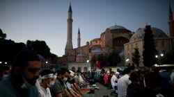Οι Τούρκοι άρχισαν τις προετοιμασίες στην Αγία Σοφία για την μεγάλη προσευχή της Παρασκευής 24