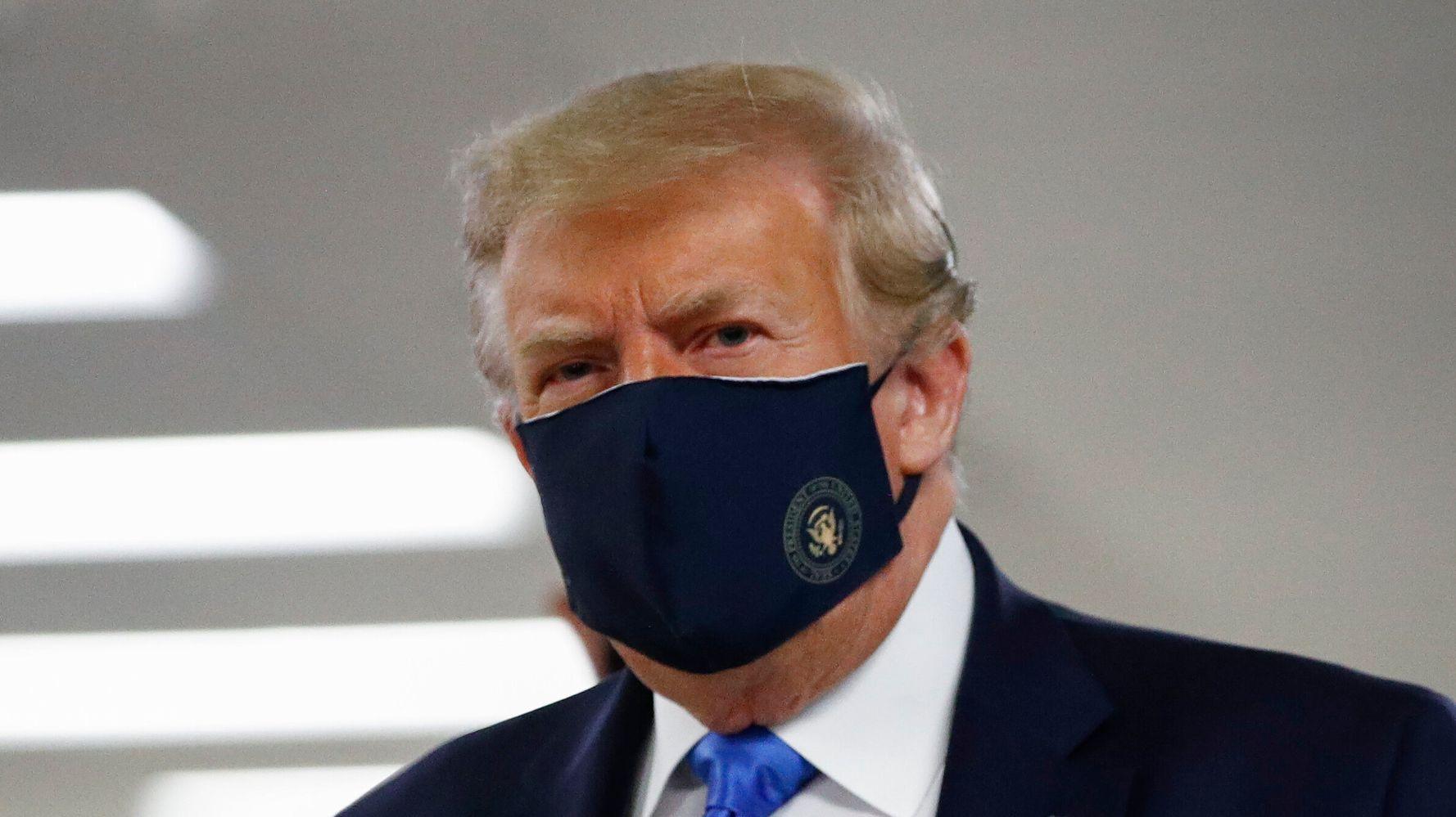 Trump Finally Wears A Mask In Public