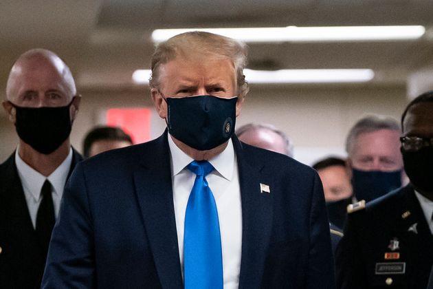 トランプ大統領、ついに公共の場でマスクを着用する「時と場所によるんだ」