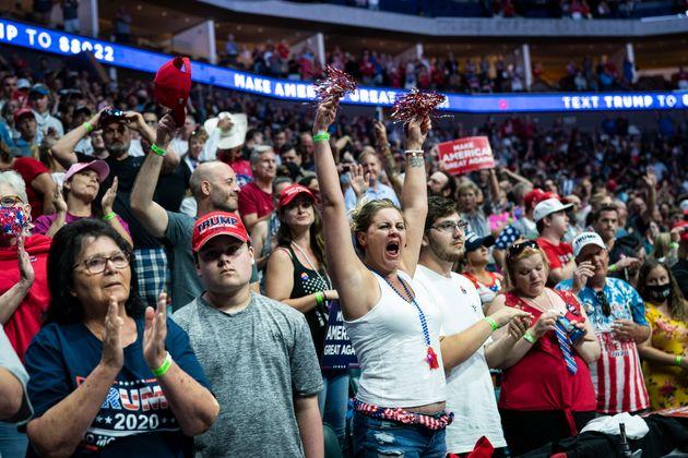 6月にオクラホマ・タルサで開かれたトランプ大統領の選挙集会