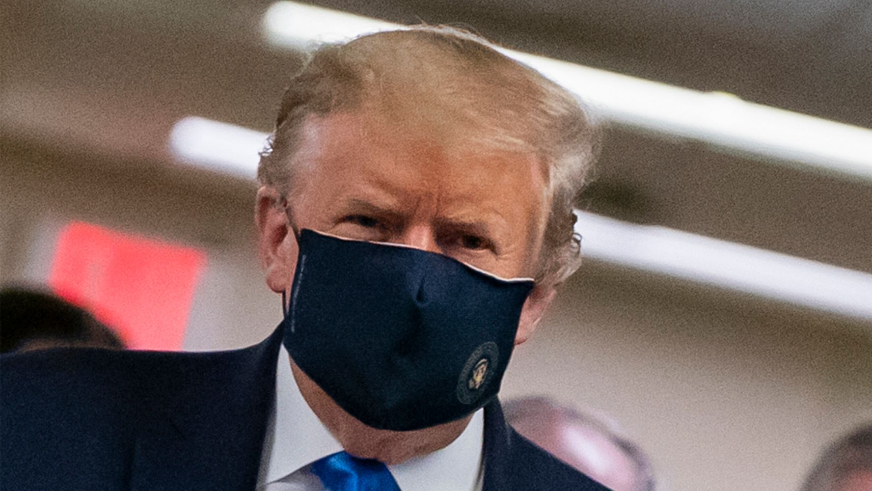 Trump Team Swoons After Their Boss Finally Dons Face Mask Months After Everybody Else